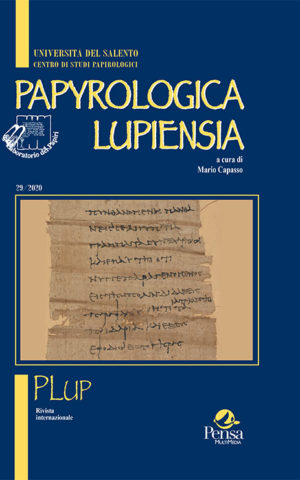 Papyrologica Lupiensia 29/2020